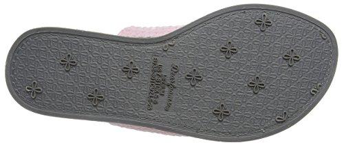 Dearfoams Damen Thong Pantoffeln Pink (Fresh Pink)