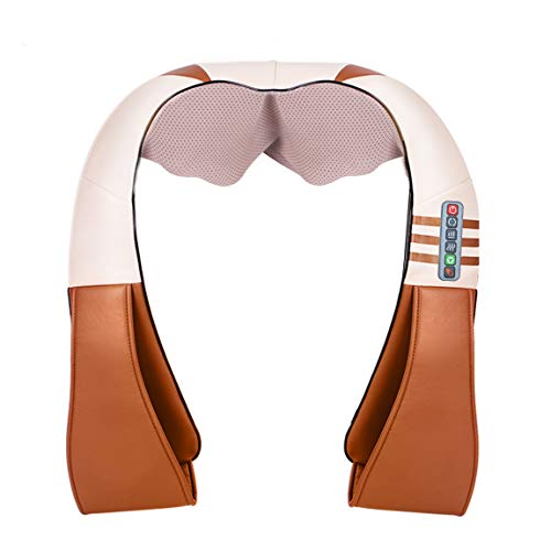 Shiatsu Neck and Shoulder Massager - Neck, Shoulder, Back, Leg and Low Back Massager - Hand Free Design with Heat 115 Degree
