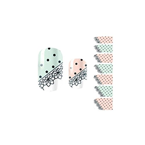 Spruce Chic Good Self Adhesive Foils Tips Self Adhesive Nail Stickers Pattern Code NO.27