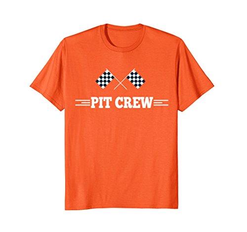Mens Pit Crew Shirt - Mens Pit Crew T Shirt for Hosting Race Car Parties, Parents XL Orange