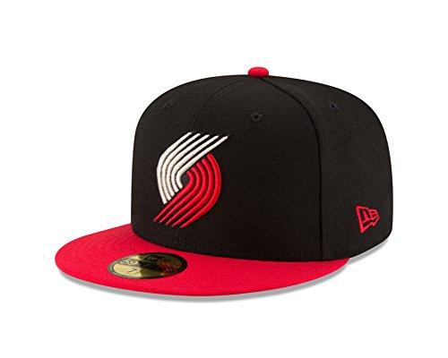New Era NBA Portland Trail Blazers Men's 2-Tone 59FIFTY Fitted Cap, 7.5, Black