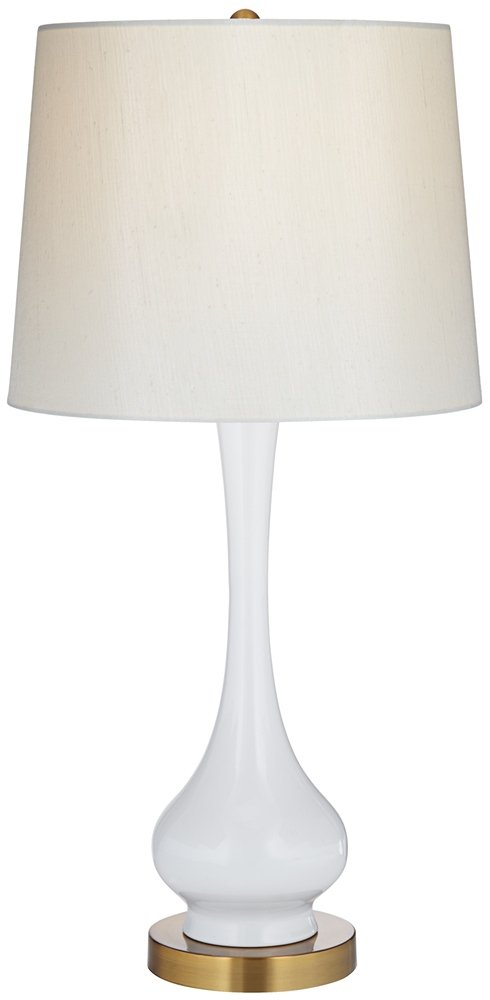 Lula white and brass gourd table lamp amazon aloadofball Images