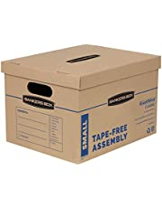 """Bankers Box SmoothMove Moving Boxes with No-Tape Assembly, Lift -Off Lids And Easy-Carry Handles, 10"""" x 12"""" x 15"""", 10 Pack (7714203"""