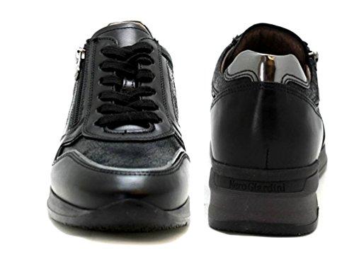 à femme de pour Chaussures ville lacets Nero Noir Giardini w1S7gg