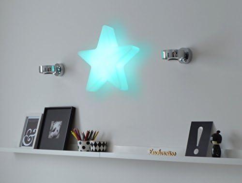 Moree Star 40 LED Accu Outdoor Beleuchteter Weihnachtsstern, Weiß, Transluzent, 41 x L 10 x H 40 cm