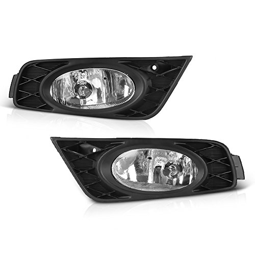 VIPMOTOZ For 2008-2010 Honda Odyssey Minivan OE-Style Fog Light Front Bumper Driving Lamp Housing Assembly Replacement Pair - Power Switch & Universal Wiring Included, Driver & Passenger Side