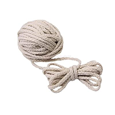 Bit Fly 100/10M 5mm Soft Braided Cotton Rope Piping Cord Multi Craft Use Beige Natural