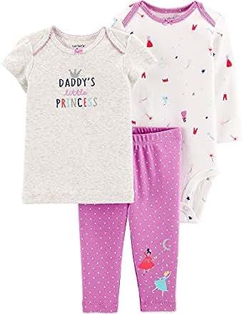 Carter's Baby Girls' 3-Piece Princess Little Character Set Daddy's Little Princess - Purple - Newborn