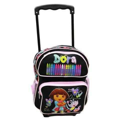 Dora The Explorer Small Rolling BackPack - Dora Small Rolling School Bag ()