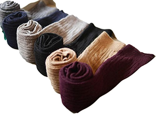 Womens Knee High Wool Boot Socks Leg Warmer HR158121 Size 7-9