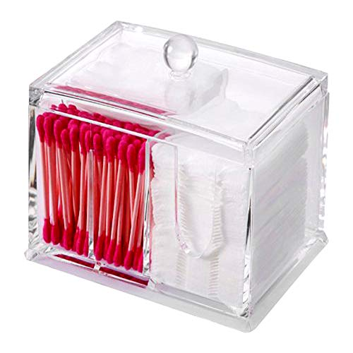 Bloss Cotton Ball 100% Acrylic Swab Holder and Cosmetic Pads