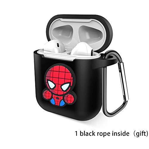Firstopp Cartoon Drop Proof Air Pods Protective Case Cover Silicone Soft Skin Shockproof Compatible with Airpods Charging Case (Spider Man13)