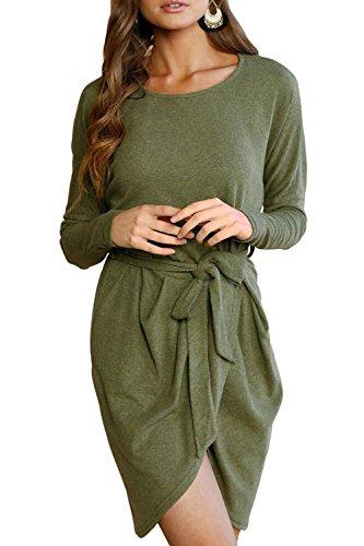 Belt Sweater Dress - 2