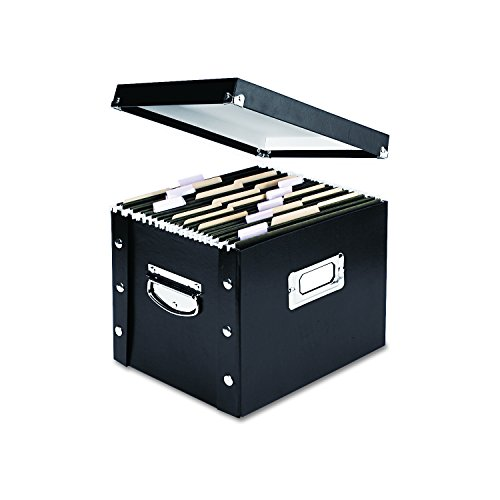 Snap-N-Store Letter-Size File Box, Black (Single Drawer File Cabinet)