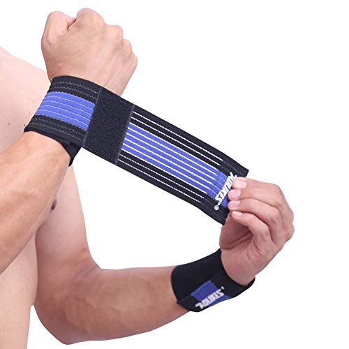 Kudden 1pc Wrist Support Breathable Adjustable Compression Forearm Wrap Belt Hand Strap Protector Gym Fitness Weight Lifting Sportswear ()