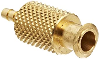 "Female Luer Lock Fitting to Tube Brass Tube ID 1/4"" .260"" Barb OD"