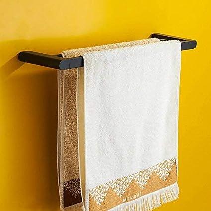 WYFCC Estante para baño pequeño Moderno Minimalista Negro Doble toalleros eléctricos toallero Toalla de baño Toalla