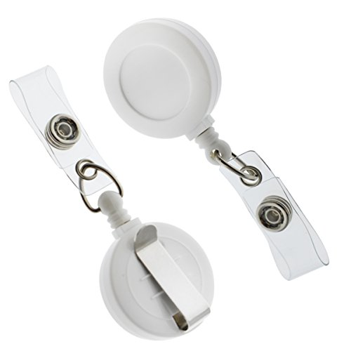 """25 Pack - Premium Retractable ID & Key-Card Badge Reels with Secure Metal Belt Clip and 34"""" Pull by Specialist ID"""