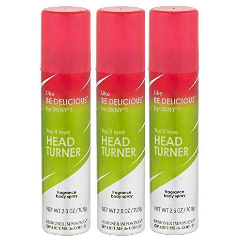 Designer Imposters Head Turner By Parfums De Coeur Body Spray 2.5oz (3 Pack)