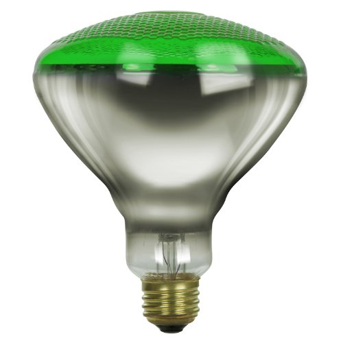 Sunlite 100BR38/FL/G/3 Incandescent 100-Watt, Medium Based, BR38 Reflector Colored Bulb, Green