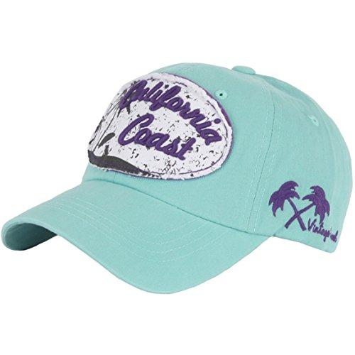 RaOn B157 California Coast Beach Lettering Summer Club Ball Cap Baseball Hat Truckers (Mint)
