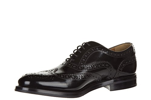 Donna CHURCH'S in Classiche Nuove Nero Pelle Scarpe Stringate Brogue txwqzZ