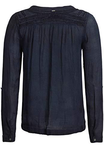 Manica Tinta Punta Unita Donna Blu Tonda Lunga A Khujo Camicia nFTWaxRR1