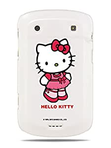 GRÜV Premium Case - 'Hello Kitty School Girl' Design - Best Quality Designer Print on White Hard Cover - for Blackberry Bold Touch 9900 9930