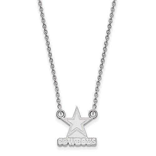 Sterling Silver Dallas Cowboys Small Pendant w/ Necklace