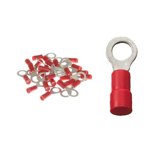 25 Ringkabelschuhe M6 0,5-1,5qmm rot