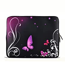 """Purple Butterfly 7"""" 7.2"""" 7.7"""" 7.9"""" 8"""" inch Touch Screen Tablet Case Sleeve Pouch Bag for Apple iPad mini Retina Display/Apple iPad Mini 2/ASUS MeMO Pad/Google Nexus 7/iView TV Pad/SupraPad/Acer Iconia One/LG G Pad/Ematic Touchscreen Tablet/HP Stream 7 /SAMSUNG Galaxy Tab 3/Trekstor Xiron 7/Ematic FunTab Kid Mode/DELL Venue 7"""