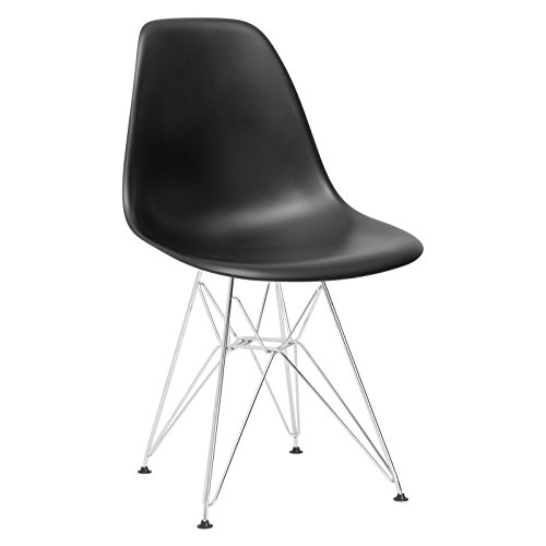 Poly and Bark Padget Side Chair in Black