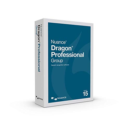 Dragon Professional Group 15.0 – Enterprise Speech Recognition Software, Single User, Dictate Documents and Control your…