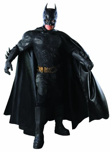 Batman: The Dark Knight Deluxe Grand Heritage Collection Costume, Black, -