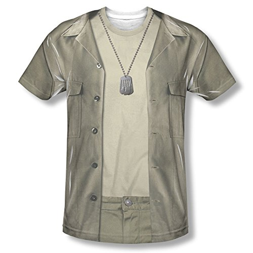Radar Mash Costume - MASH - Men's T-Shirt Hawkeye Costume , 3XL, White