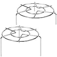 "3 15/16"" & 1 3/4"" Tall Trivet Rack Stand, Heavy Duty Stainless Steel Multifunction Basket, Pressure Cooker Steam Rack"