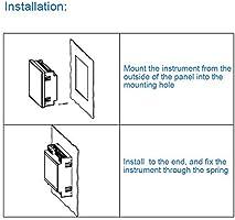 Walfront Digital 3-phase Voltmeter, LNF26 Digital Display