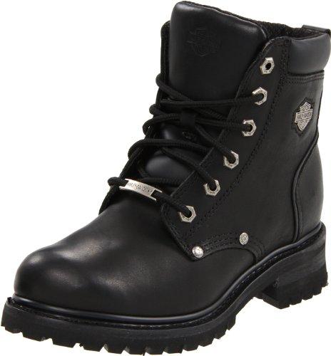 Harley-Davidson Women's Shawnee Motorcycle Boot,Black,6 M US