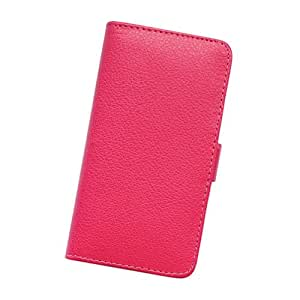Fabcov Packing Hot Pink Card Slot Wallet Stand Leather Cover Case For HTC Windows Phone 8X