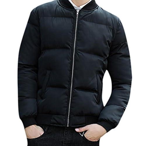 Honey GD Mens Winter Thick Zipper Long Sleeve Thick Coat Jacket Coat