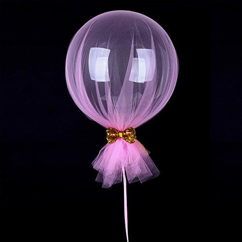 - Jannyshop 4 PCS Round Bobo Bubble Ballon Mesh Bow Balloon for Birthday Wedding Parties Celebrations Decorations 18''