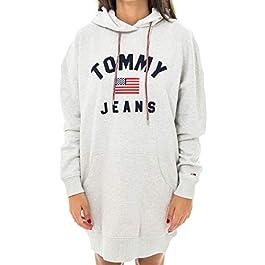 TOMMY HILFIGER woman hooded sweatshirt DW0DW07233 PPP TJW LOGO HOODIE DRESS XS