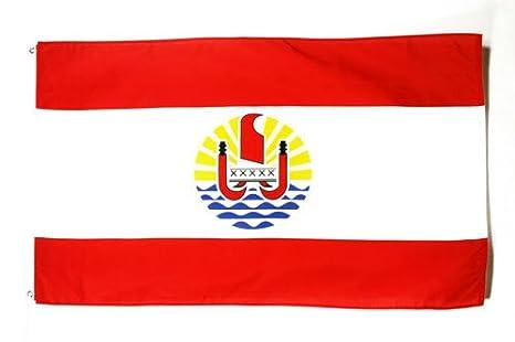 Drapeau Flag Polynésie Française 90x60cm Az Polynésien zMVUSp