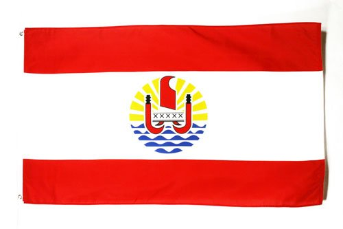 AZ FLAG French Polynesia Flag 3' x 5' - French Polynesian Flags 90 x 150 cm - Banner 3x5 ft -