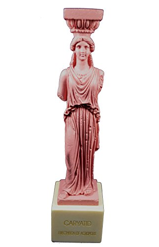 Estia Creations Caryatid Sculpture karyatides Ancient Greek Cariatis Pink Statue