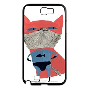 Case For Samsung Galaxy Note 2, Cats Case For Samsung Galaxy Note 2, Black Yearinspace127058