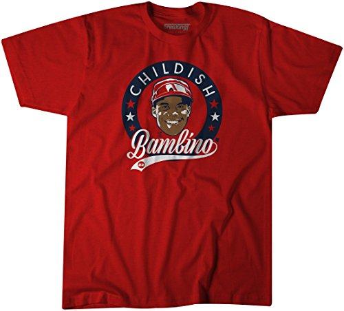 BreakingT MLB Washington Nationals Juan Soto- Childish Bambino T Shirt, Red, X-Large