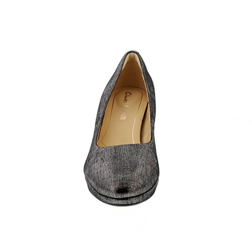 Clarks Kelda Hope, Zapatos de Tacón para Mujer Beige (Pewter Metallic)