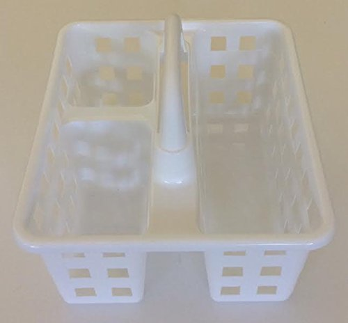 Hunted Treasures-Be Organized College Dorm 3 Compartmentt Shower Caddy- White by Hunted Treasures-Be Organized (Image #1)