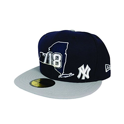 867753eec63 New York Yankee 718 AREA CODE STATE Navy Fitted 59Fifty New ...